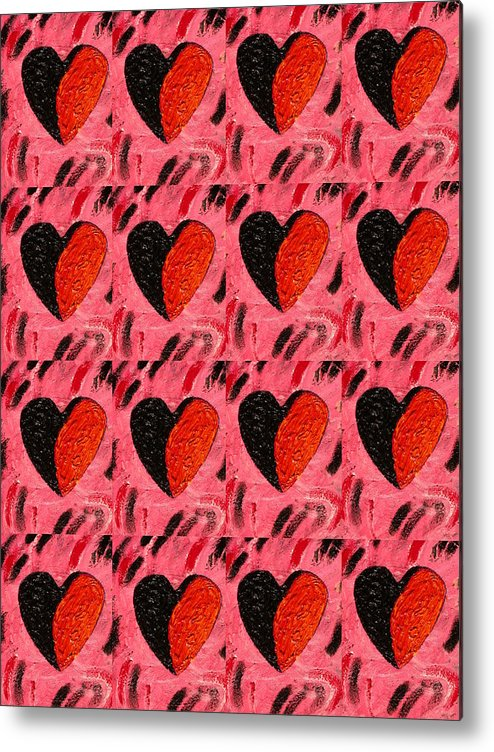 Hearts Metal Print featuring the painting Love My Boyfriend by Nelleke Pienaar