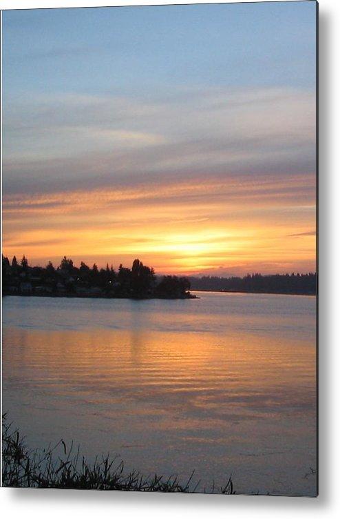 Sunrise Metal Print featuring the photograph Manette Sunrise by Valerie Josi