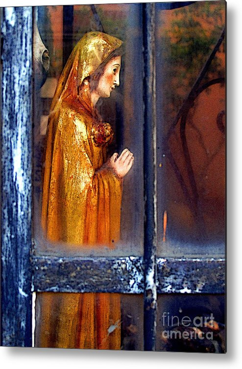 Mexico Metal Print featuring the photograph Mary In Prayer by Mexicolors Art Photography