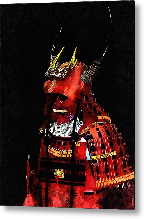 Red Samurai Armour Metal Print featuring the photograph Memories Of Samurai 3 by Dorothy Berry-Lound