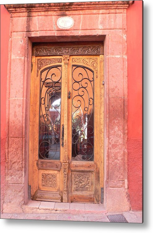 Mexico Metal Print featuring the photograph Mexican Doorway 2 by Francine Gourguechon