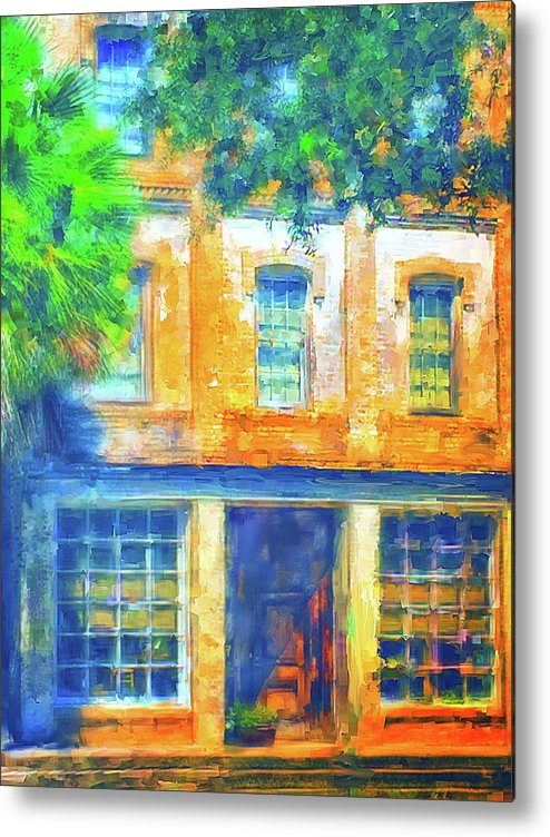 Old Metal Print featuring the digital art Micanopy Warehouse by Nancy Faircloth