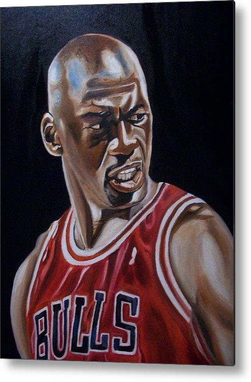 Michael Jordan Painting Metal Print featuring the painting Michael Jordan by Mikayla Ziegler