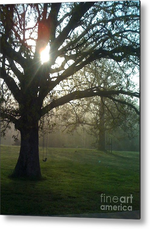 Mist Metal Print featuring the photograph Misty Morning by Nadine Rippelmeyer