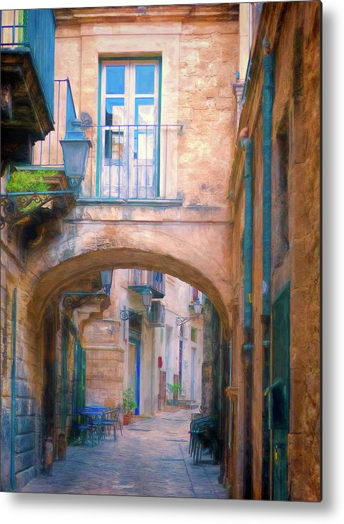 Italy Metal Print featuring the photograph Modica Street by Claude LeTien