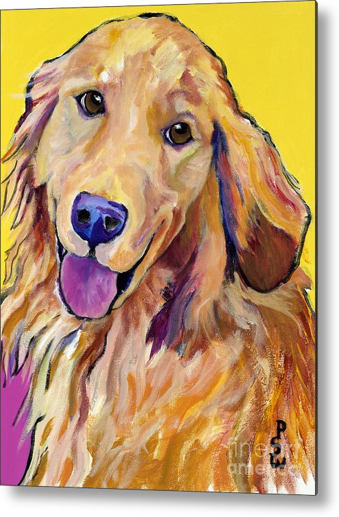 Acrylic Paintings Metal Print featuring the painting Molly by Pat Saunders-White