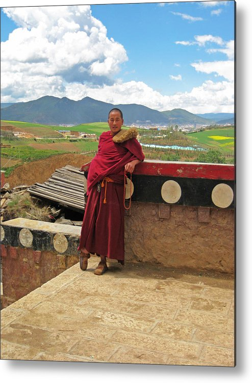 Monk Metal Print featuring the photograph Monk by Angela Siener