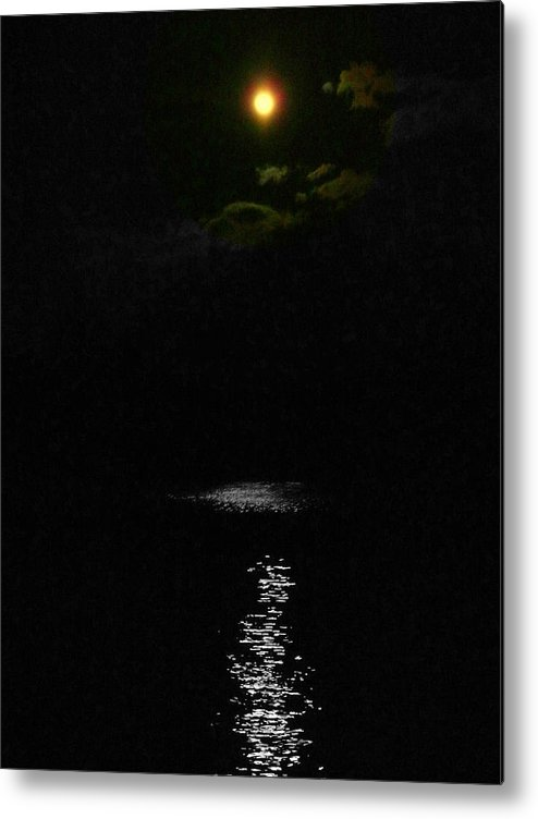 Akeview Metal Print featuring the photograph Moon Way by Aron Chervin
