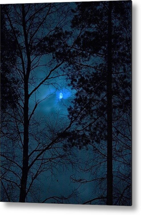 Lehtokukka Metal Print featuring the photograph Moonshine 10 Blue Sky by Jouko Lehto