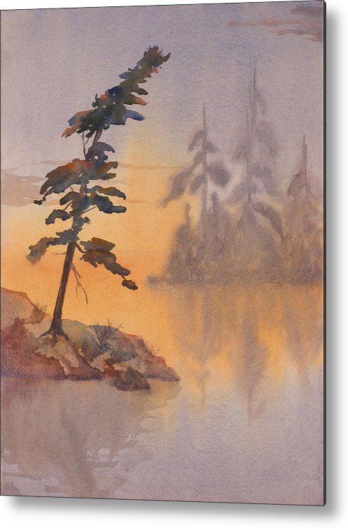 Lake Metal Print featuring the painting Morning Mist by Debbie Homewood