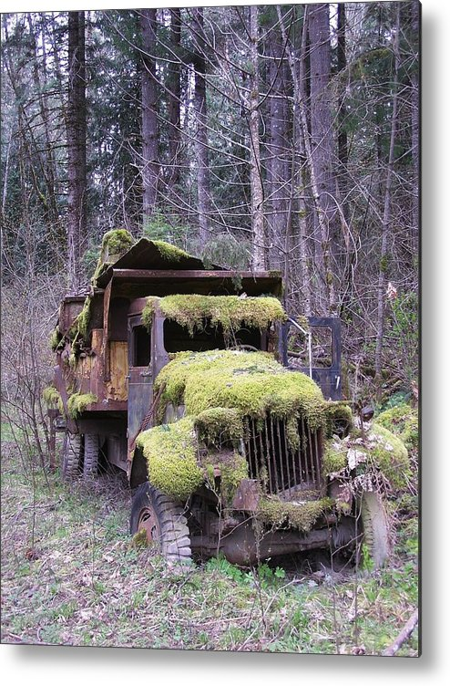 Truck Metal Print featuring the photograph Mossy Truck by Gene Ritchhart