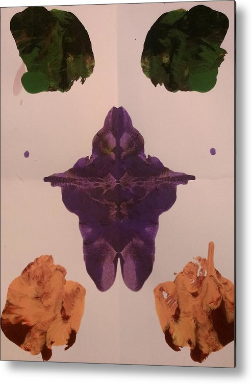 Purple Metal Print featuring the painting Moth by Jessica Baker