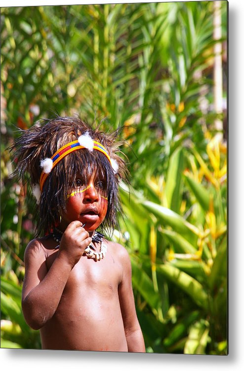 Tribal Metal Print featuring the photograph Mount Hagen Papua New Guinea Aog 91 by Per Lidvall