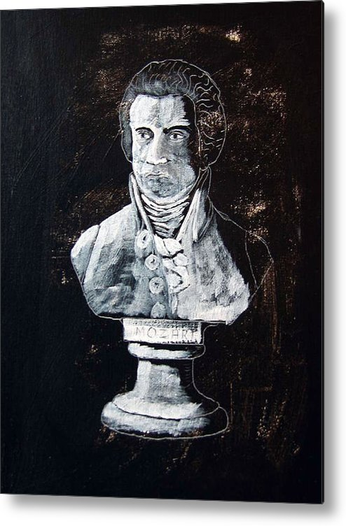 Mozart Metal Print featuring the painting Mozart by Richard Le Page
