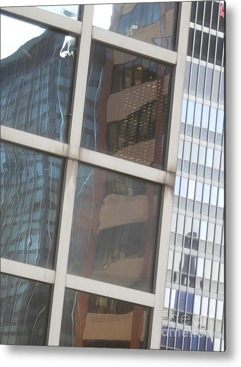New York Metal Print featuring the photograph My Building Or Yours by Donna McLarty