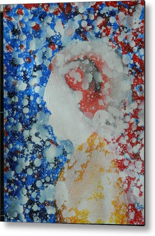 Dreamy Metal Print featuring the painting My Dream by Saranga Dutta