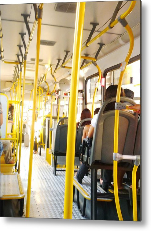Bus Metal Print featuring the photograph My Lifetime, My Day, My Bus, My Prision by Beto Machado