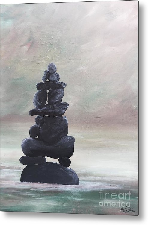 Zen Metal Print featuring the painting My Zen by Buffy Heslin