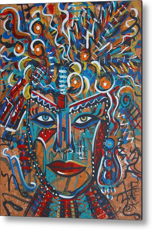 Abstract Metal Print featuring the painting Nataliana by Natalie Holland