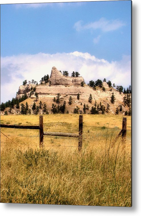 Plains Metal Print featuring the photograph Nebraska Buttes by Tingy Wende