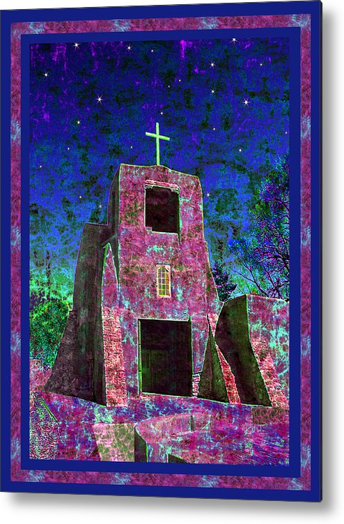 Mission Metal Print featuring the photograph Night Magic San Miguel Mission by Kurt Van Wagner