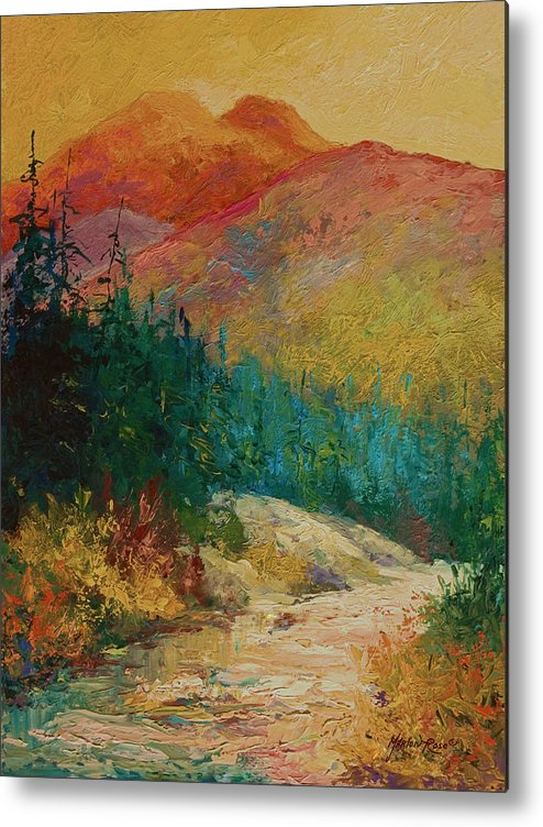 Alaska Metal Print featuring the painting Northern Essence by Marion Rose