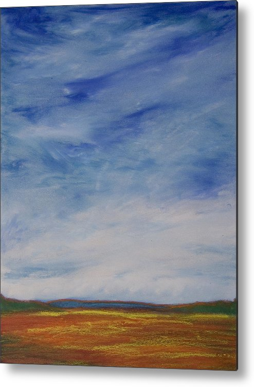 Abstract Landscape Metal Print featuring the painting Nothing But Blue Skies by Wynn Creasy