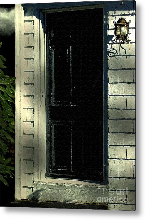 Colonial Metal Print featuring the painting November Night In Colonial Blue by RC DeWinter