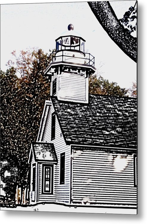 Altered Metal Print featuring the photograph Old Mission Point by Wayne Potrafka