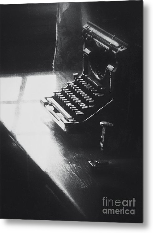 Typewriter Metal Print featuring the photograph Old Time Communication by Diana Rajala