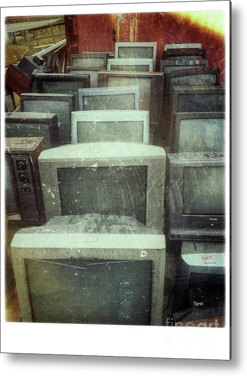 Tv Metal Print featuring the photograph Oldnology by Steven Digman