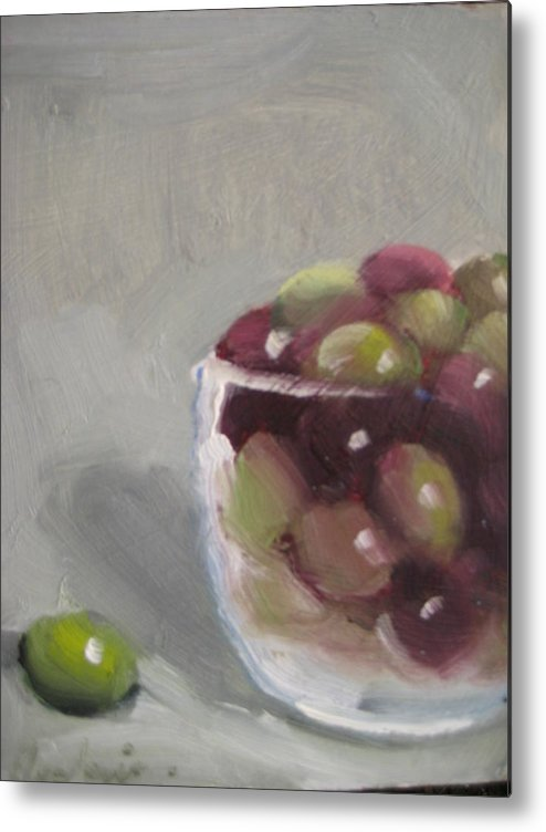 Still Life Metal Print featuring the painting Olives by Susan Jenkins