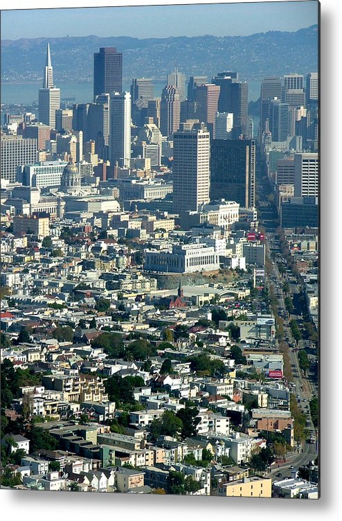 City Scape Metal Print featuring the photograph On A Clear Day You Can See Forever by Donna Thomas