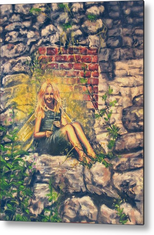 Mythology Metal Print featuring the painting Oops You Saw Me by Maren Jeskanen