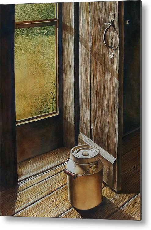 Still Life Or Landscape Metal Print featuring the painting Open Door by Arnold Hurley