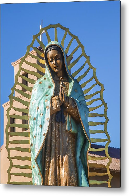 Antique Metal Print featuring the photograph Our Mother Of Guadalupe by Ralph Brannan