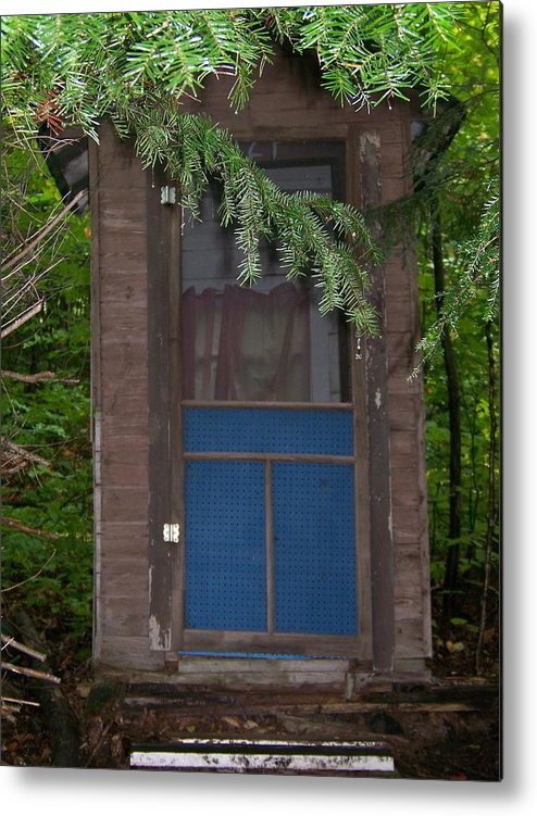 Outhouse Metal Print featuring the photograph Our Outhouse - Photograph by Jackie Mueller-Jones