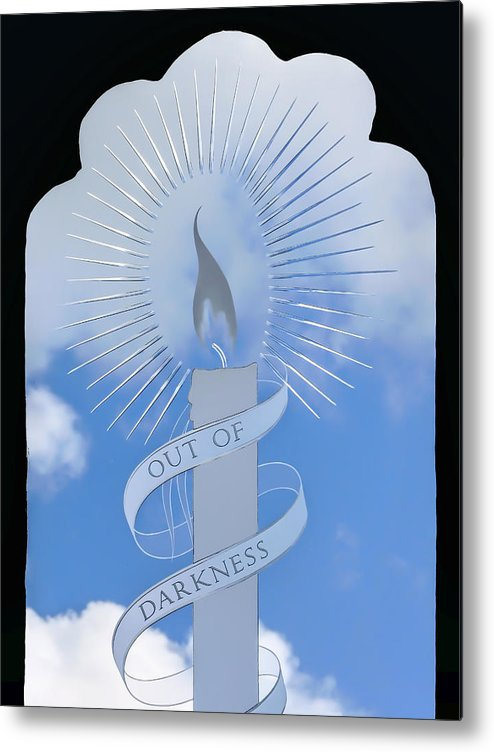 Glass Metal Print featuring the photograph Out Of Darkness by Susie Peek