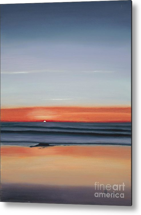Sunset Metal Print featuring the painting Pacific Power by Juan Romagosa