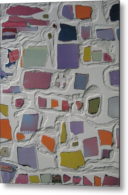 Sand Metal Print featuring the mixed media Pastel Shapes by Gail Hinchen