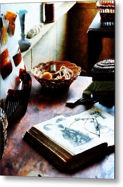 Pattern Metal Print featuring the photograph Pattern Book by Susan Savad