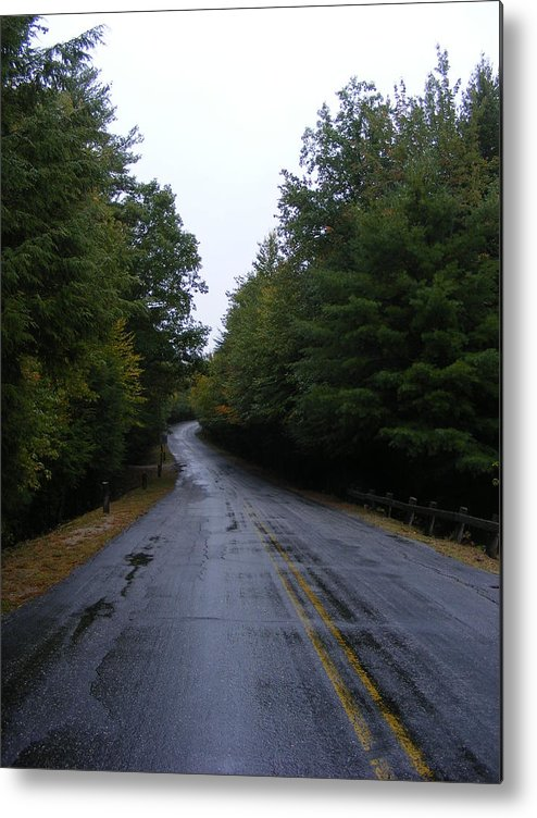 Road Metal Print featuring the photograph Pawtuckaway Road by Alison Heckard