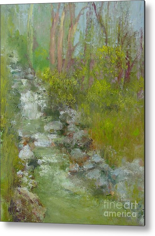 Landscape Metal Print featuring the painting Peekskill Hollow Creek by Kathleen Hoekstra