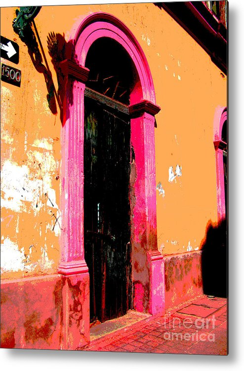 Darian Day Metal Print featuring the photograph Pink Door 1 By Darian Day by Mexicolors Art Photography