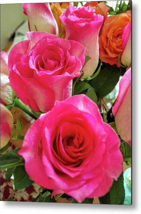 Rose Metal Print featuring the photograph Pink Fog @2 by Ludy Ortiz