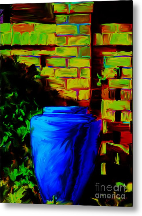Plant Metal Print featuring the painting Planter by Everett White