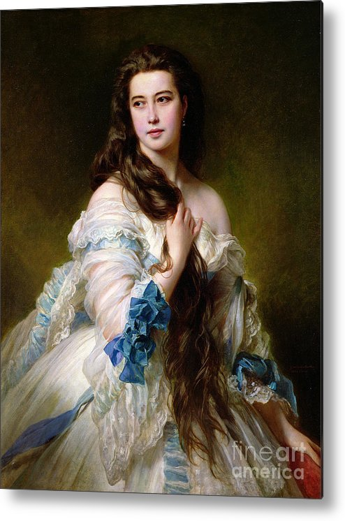 Portrait Metal Print featuring the painting Portrait Of Madame Rimsky Korsakov by Franz Xaver Winterhalter