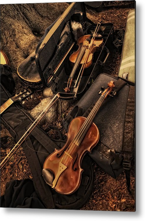 Violin Metal Print featuring the photograph Possibilities by Robin-Lee Vieira