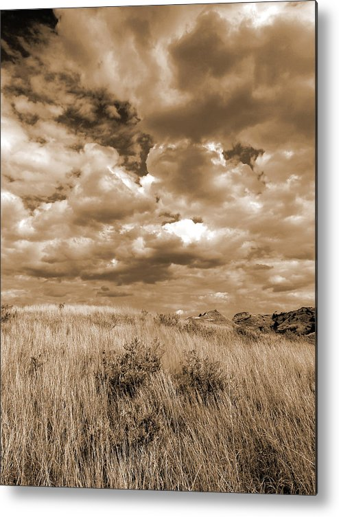 North Dakota Metal Print featuring the photograph Prairie And Sky by Cris Fulton