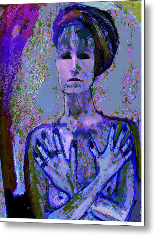 Portrait Metal Print featuring the painting Promise by Noredin Morgan